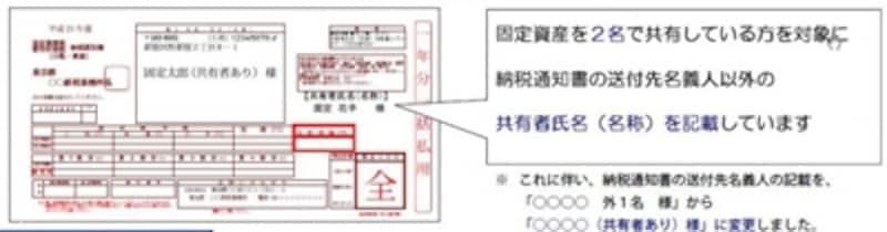 平成21年度からの記載変更(出典:東京都主税局)