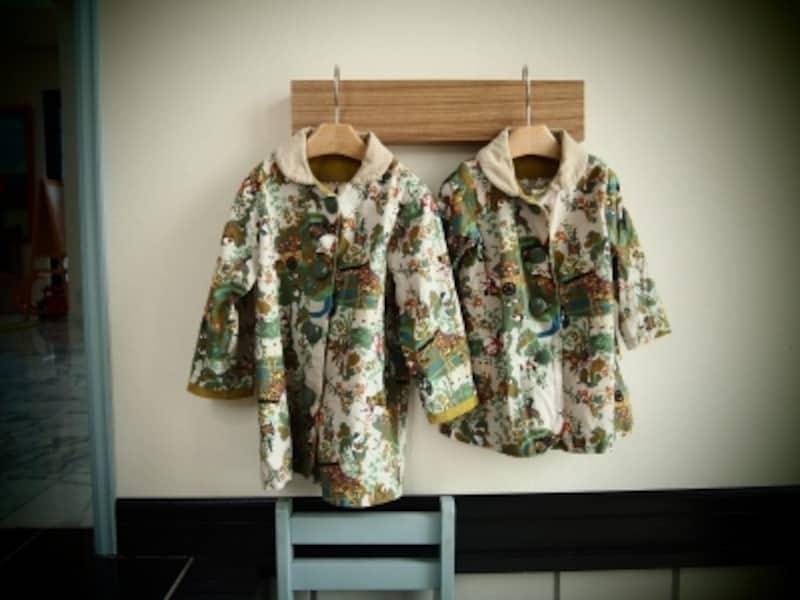 なんとこれ、パパ作のスプリングコート!お宅の雰囲気ともよくマッチしています
