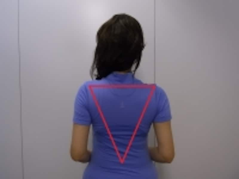 三角背中で筋肉が活発に!