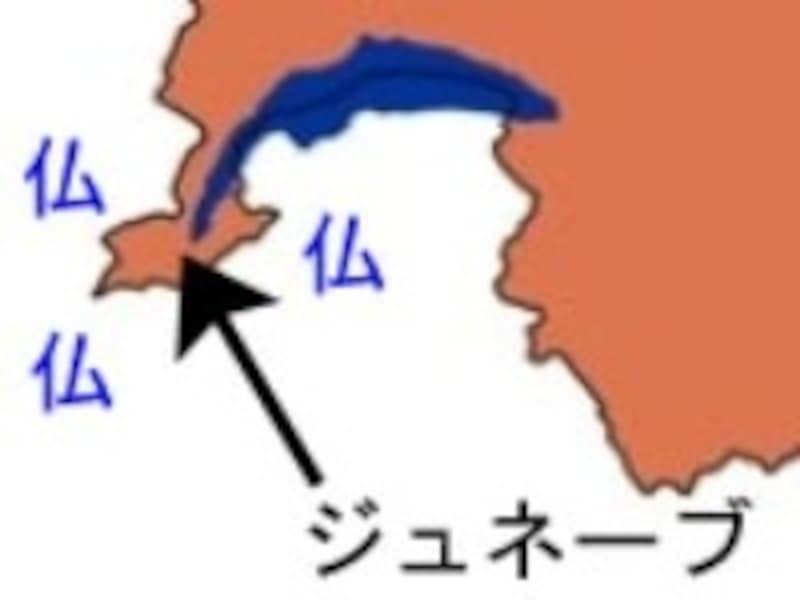 ジュネーブ周辺概念図