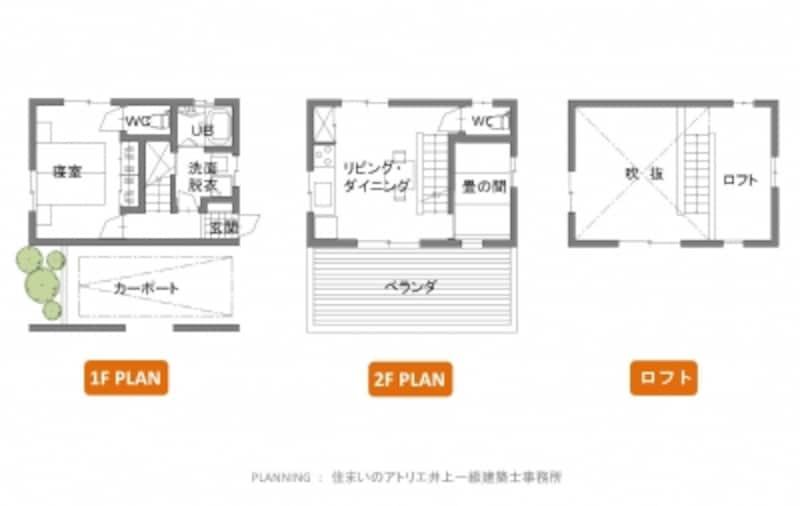 【図1】延べ床面積15坪の家undefined間取り例(クリックで拡大)
