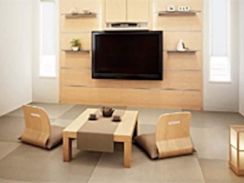 床暖房でぽかぽかの畳は気持ちのいい部屋に。畳を入れ替える時が取り付けのチャンスです(畳/大建工業)