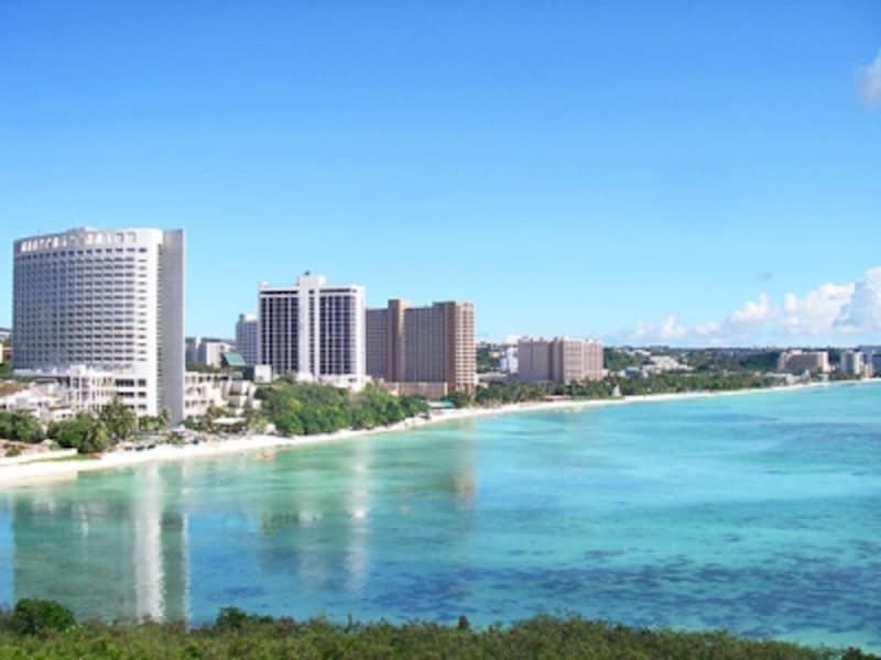 タモン湾に連なる高級リゾートホテル。グアムでは、数年前にホテルのリノベーション・ラッシュがあり、施設やサービス、高級感もアップ