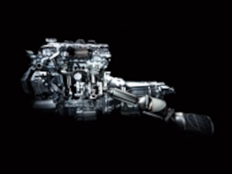 新開発のクリーンディーゼル・テクノロジーを駆使した「YD25DDTi」エンジンで、燃費を大幅に向上させたという