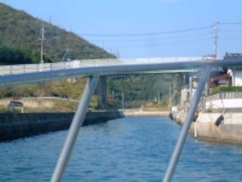 西ノ島の南側と北側を通り抜けられる船引運河