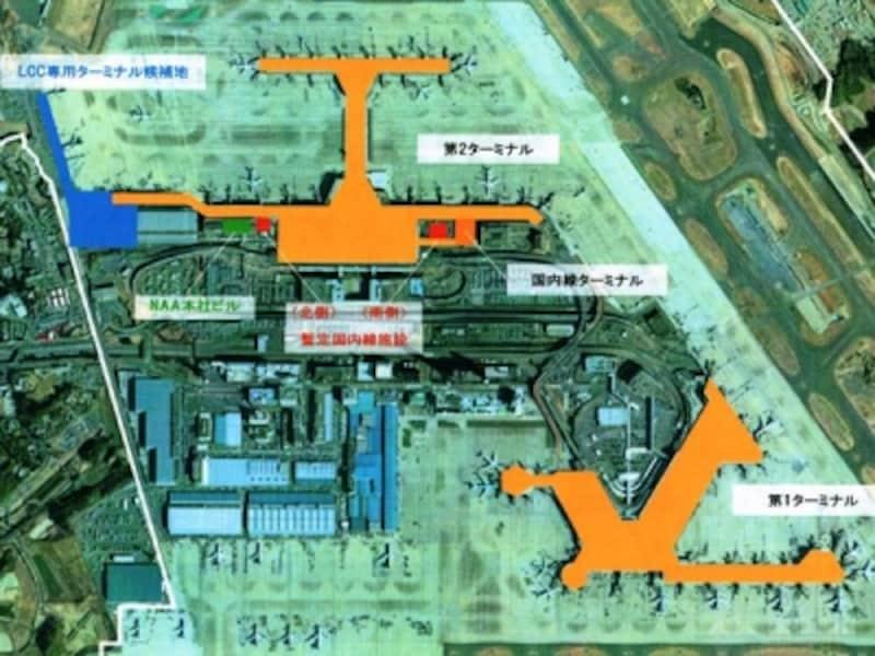 成田空港平面図
