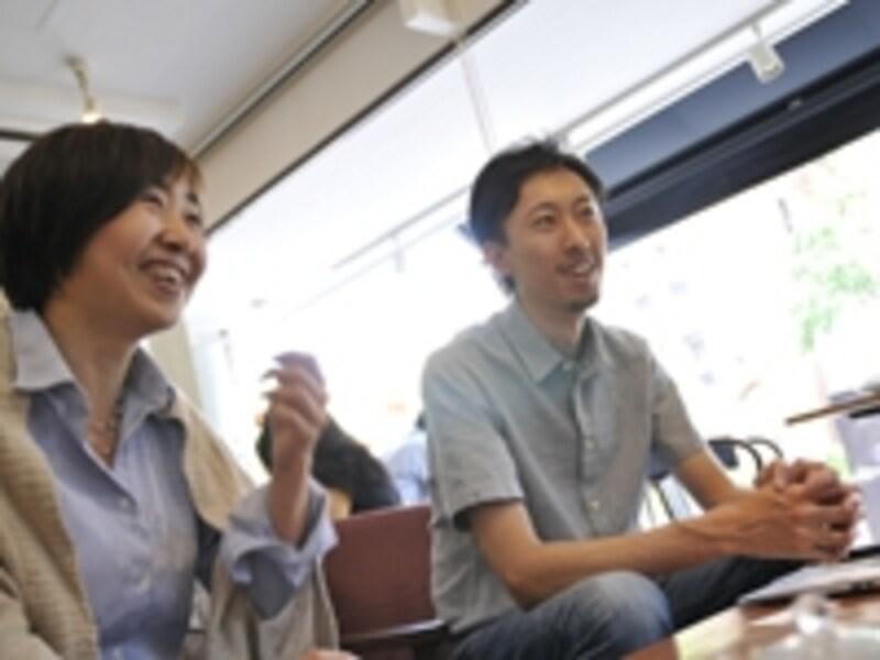 右が代表取締役の磯部洋樹さん。左が取締役の新井友加里さん(撮影:鈴木淳)