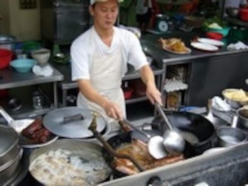中国料理店、厨房