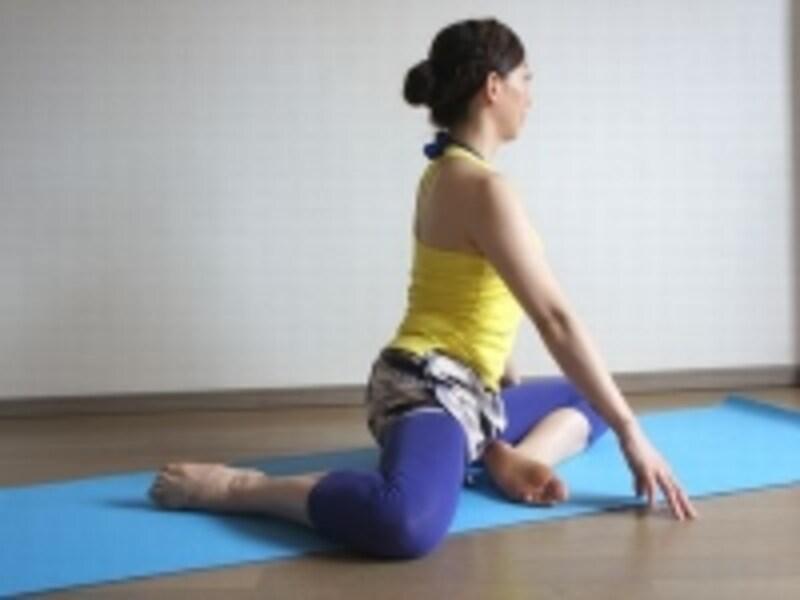 お尻と太ももの境目の筋肉を意識