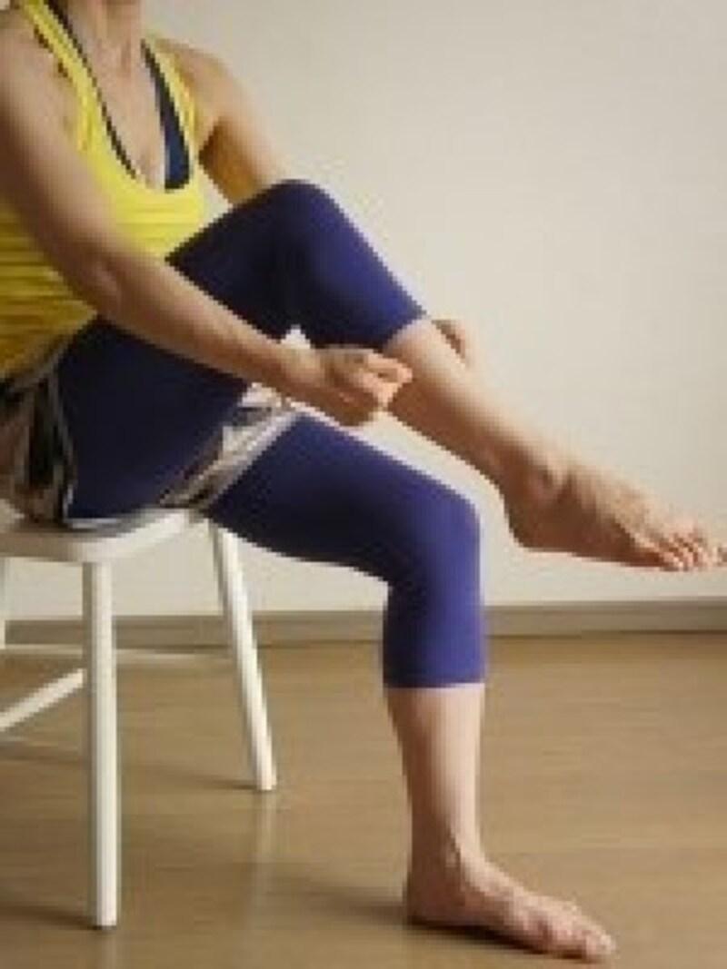 座りながらストレッチ脚のむくみ解消法7.血行がよくなります