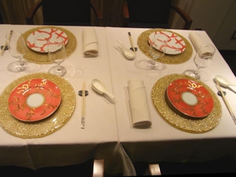 ヨーロッパのテーブルウエアを使っています