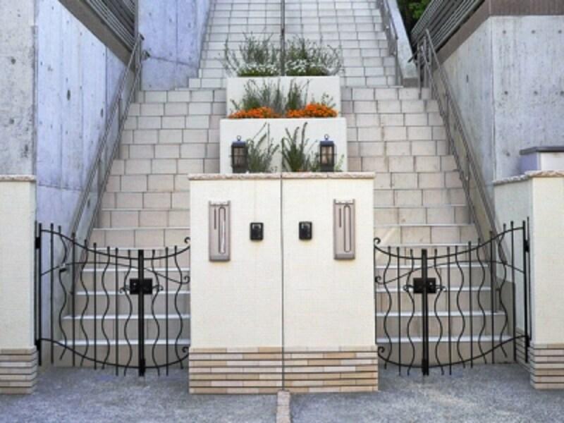 階段状の敷地延長部分