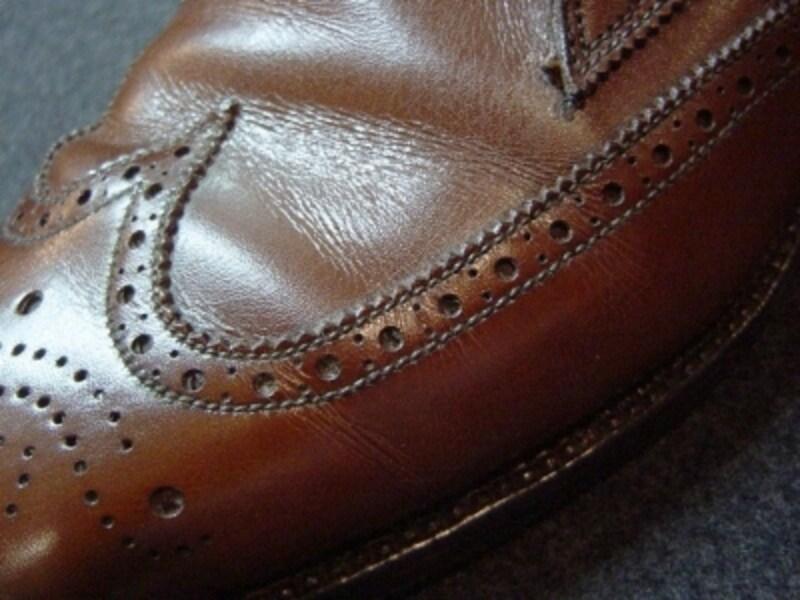 履きジワから来る靴ずれ