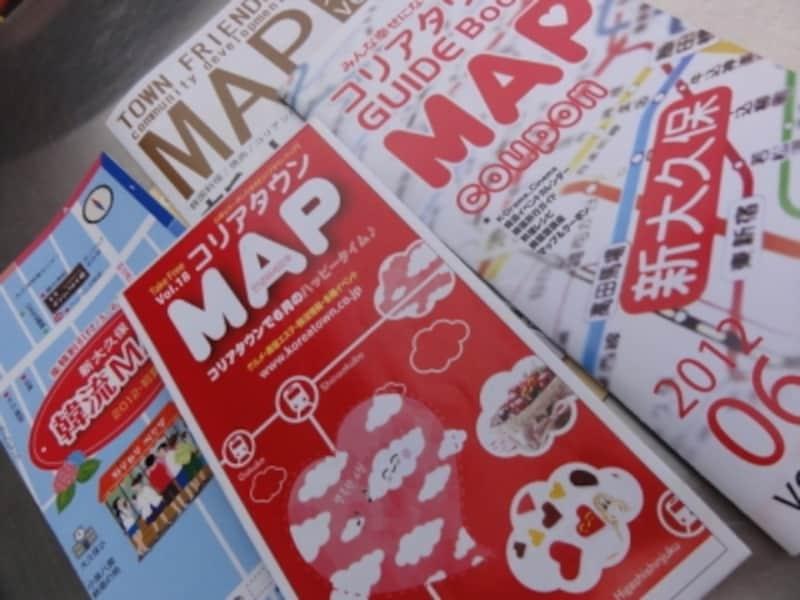 お店などの宣伝が載っていて、わかりやすい地図だ。
