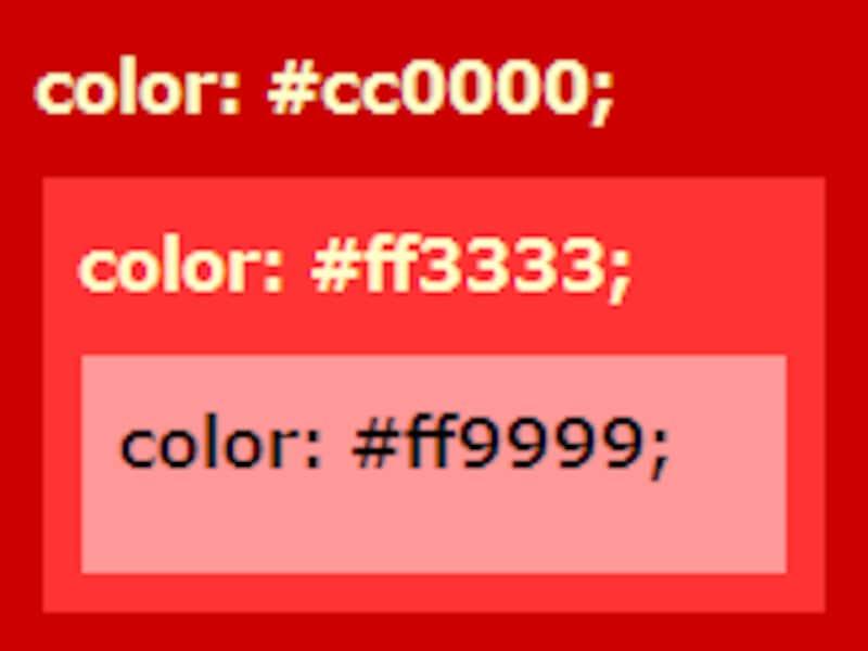 CSSでは直接色の値を書くしかない