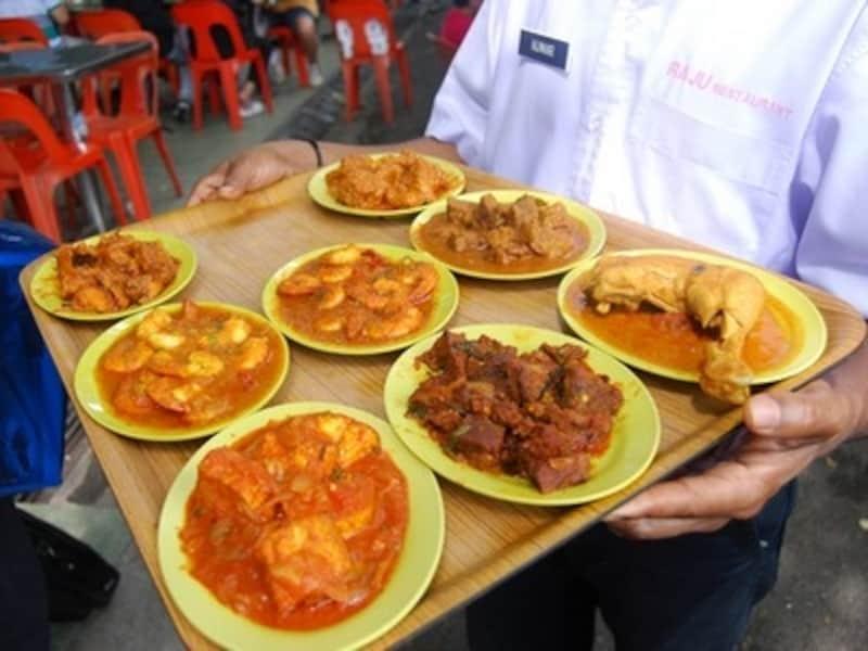 マレーシア、インド料理屋台
