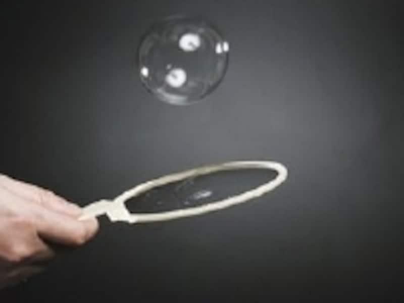 シャボン玉でトランポリンをする実験も不思議!