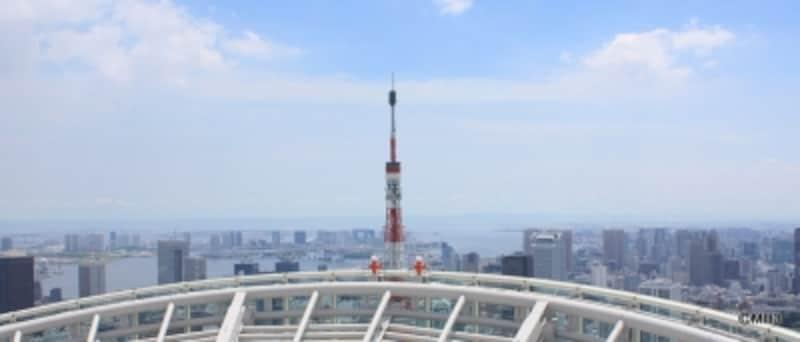 東京タワーの特別展望台(地上250m部分)と目線は同等?