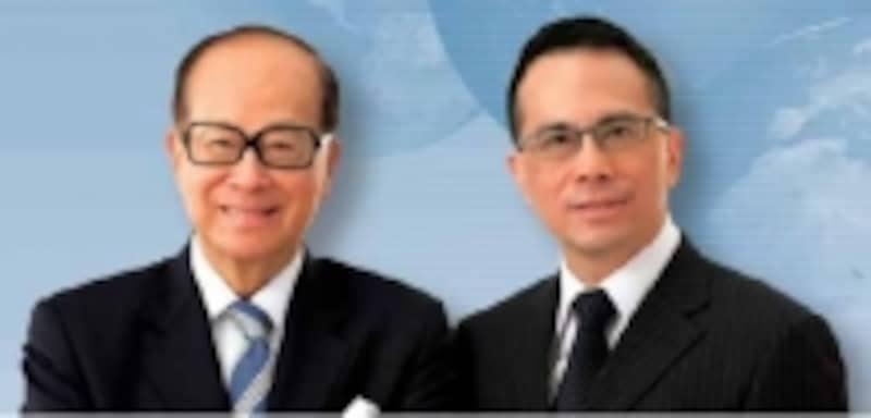 香港NO1の大富豪、李嘉誠と長男の李沢鉅