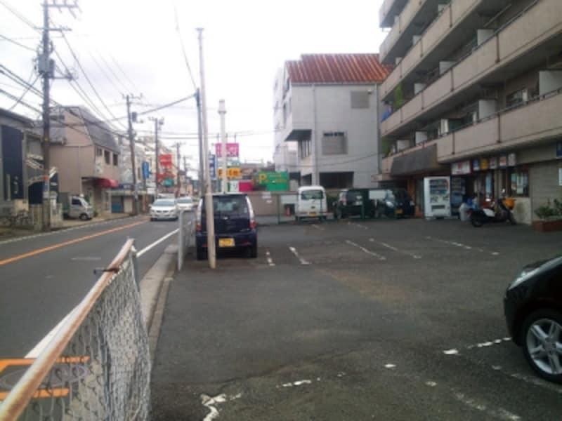 道路予定地が暫定利用されている例