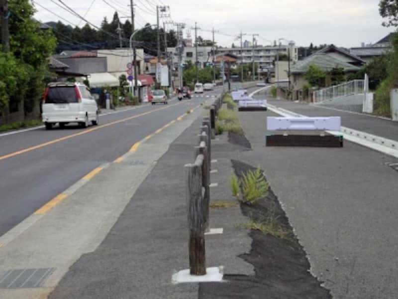 工事中の都市計画道路