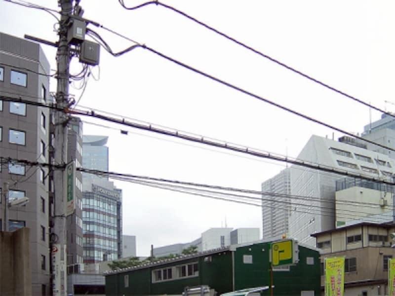環状2号線着工前の虎ノ門付近