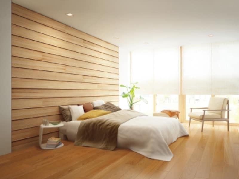 壁も木にすることで得られる安心感