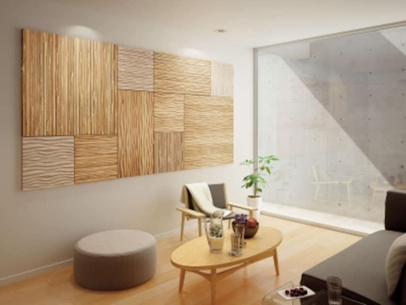 モダンな木の空間