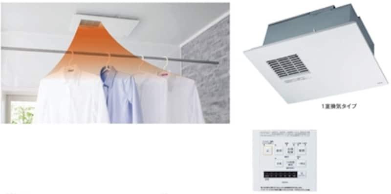シンプルなデザインは空間に馴染む。衣類乾燥は、エコモードで電気代を節約。[浴室換気暖房乾燥機undefined三乾王undefinedTYB300シリーズ]undefinedTOTOundefinedhttp://www.toto.co.jp/