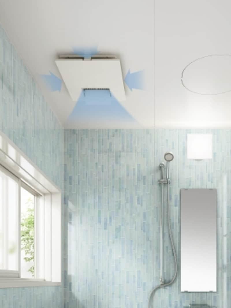 浴室内をカビが繁殖しにくいクリーンな環境に保つ。[カビシャット暖房換気乾燥機[100V]イメージ]undefinedパナソニックエコソリューションズundefinedhttp://sumai.panasonic.jp/