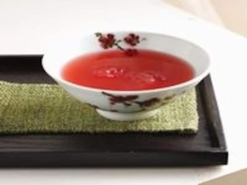 たくさんあるお茶メニューの中でも、特に人気なのが五味子茶。甘酸っぱい味でリフレッシュ!(C)TeastoryofBeautifulTeaMuseum