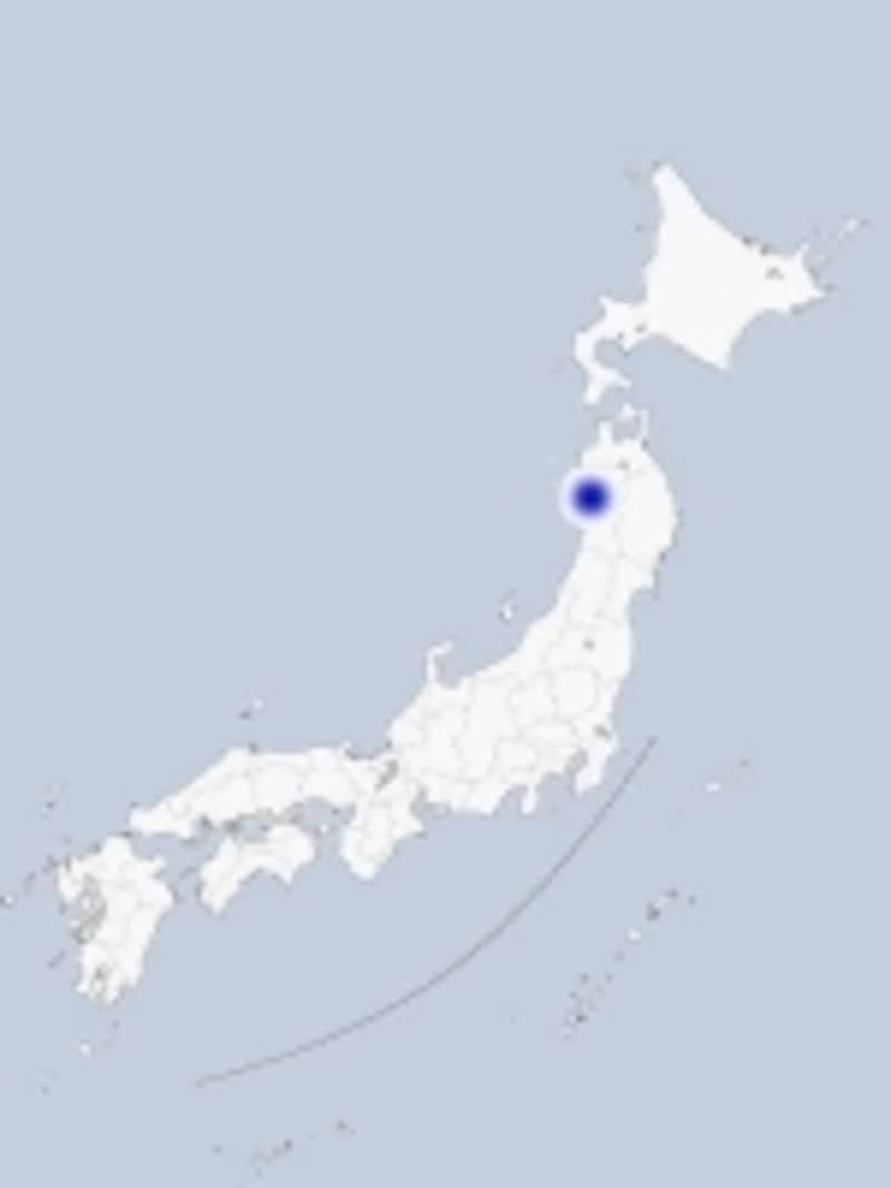 男鹿の地図