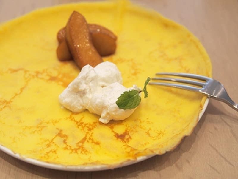 ブリティッシュパンケーキ ローストアップル&シナモンクリーム(800円)
