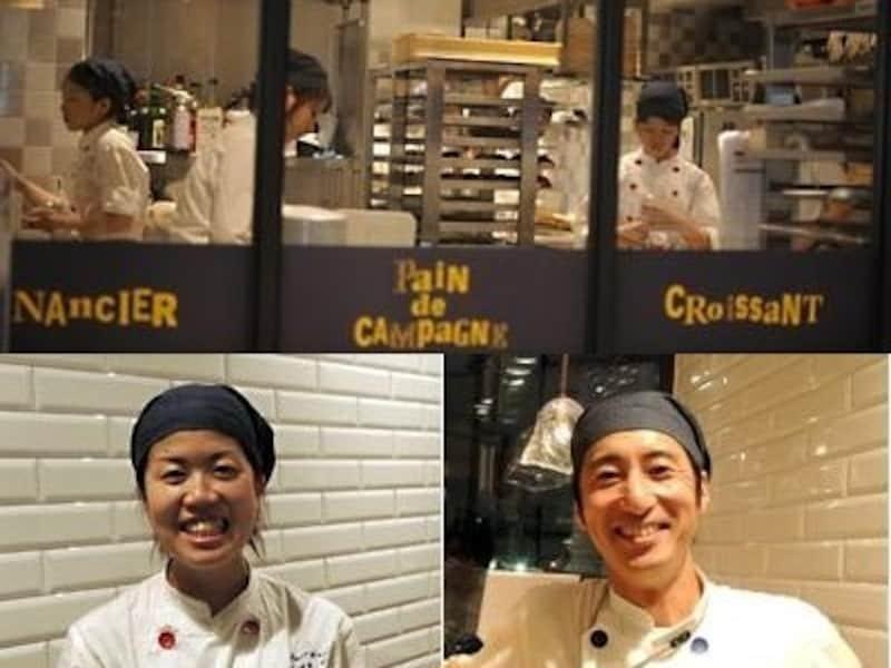 日本のスタッフたち。左:菊地美里さん、右:老川浩明さん