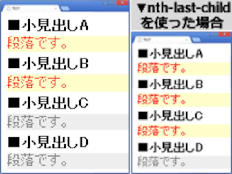 :nth-last-of-type疑似クラスの例
