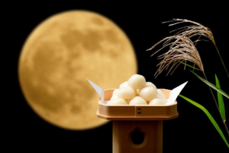 十五夜(中秋の名月)といえば、月見だんご 並べ方・積み方・数