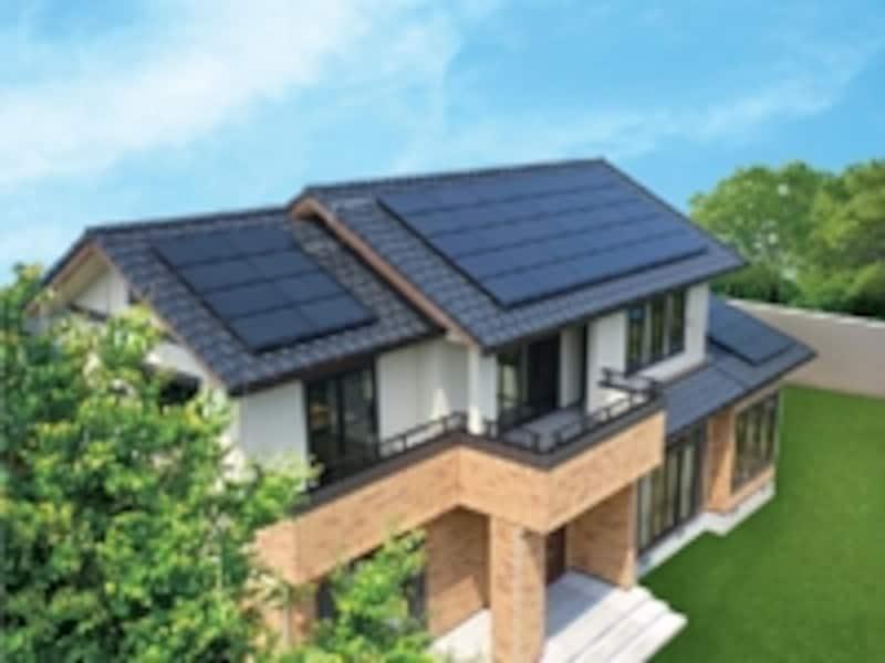 太陽電池モジュールの設置例(イメージ)