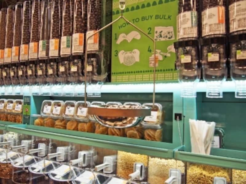 ナッツ、ドライフルーツのバルクコーナー(カハラ店)
