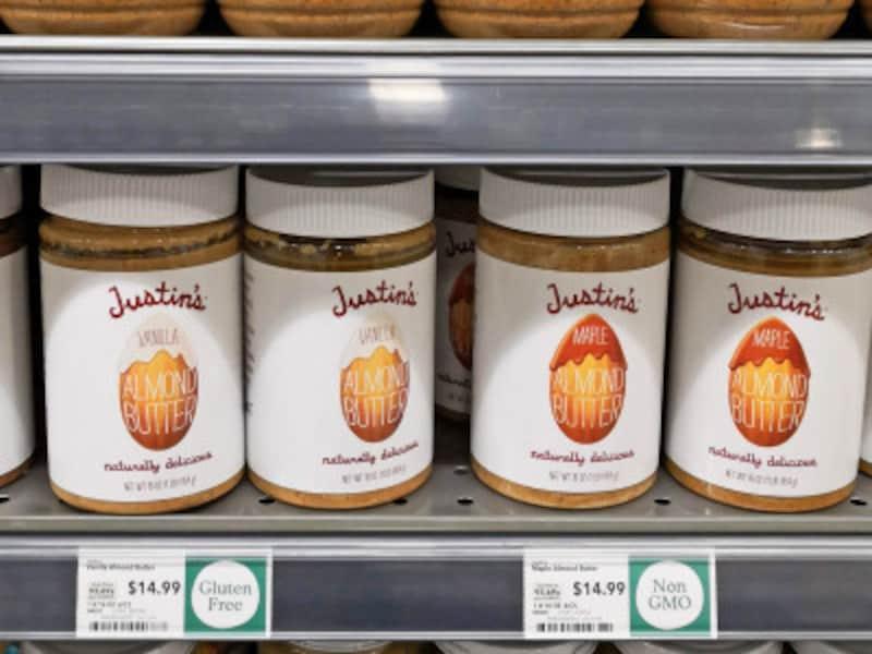 アメリカで人気のピーナッツバター「ジャスティンズ」もNonGMO、GlutenFree