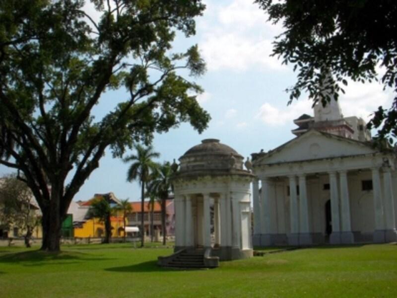 ジョージタウンにあるセントジョージ教会。1818年に建築された東南アジア最古のイギリス教会です