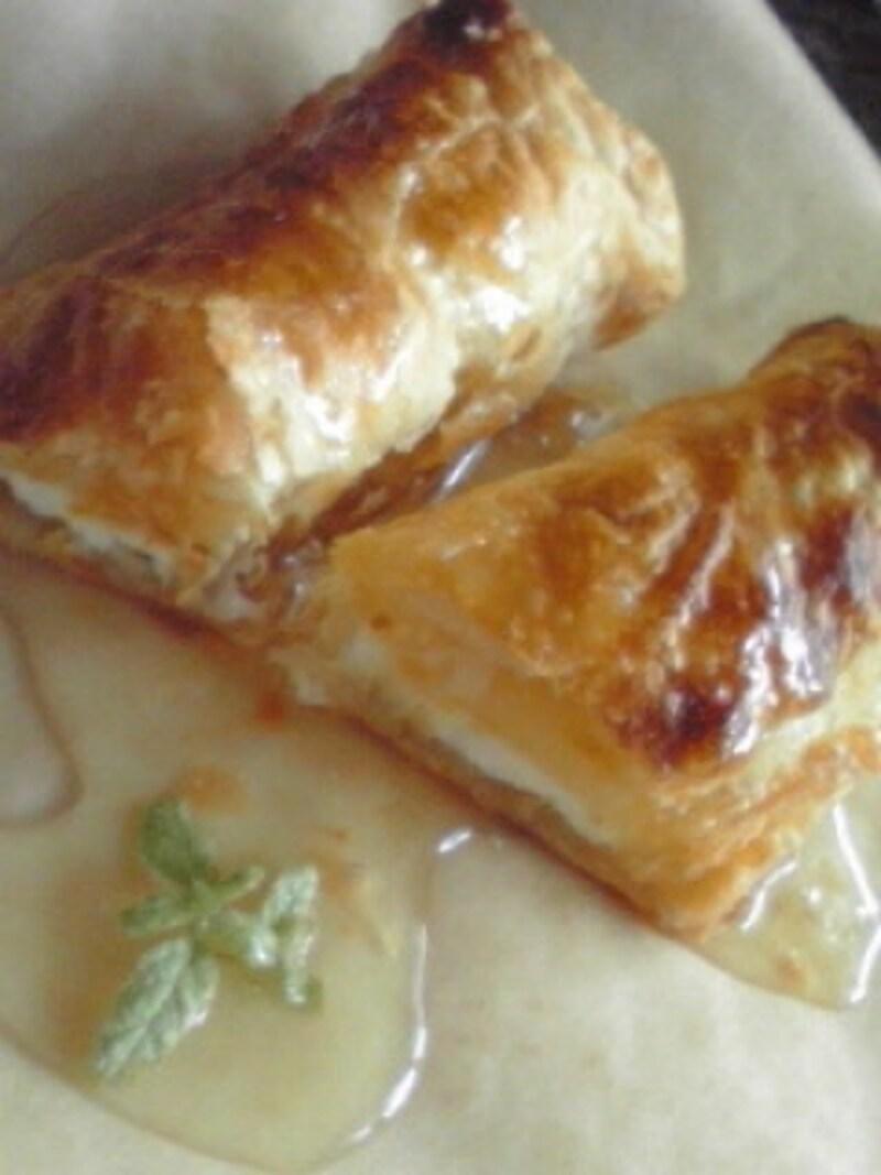 クリームチーズと柑橘系の簡単パイ