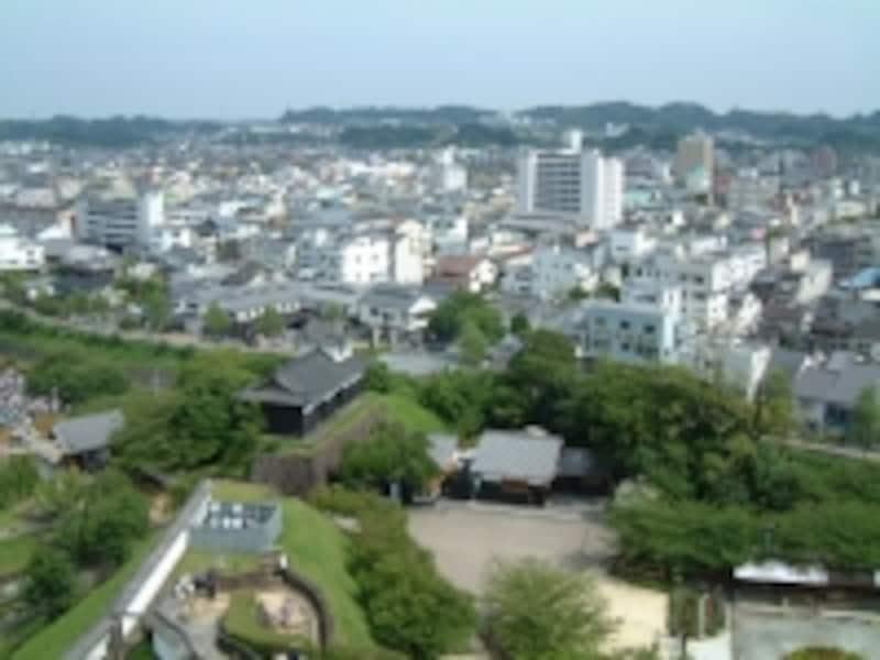 掛川城天守閣からの眺め