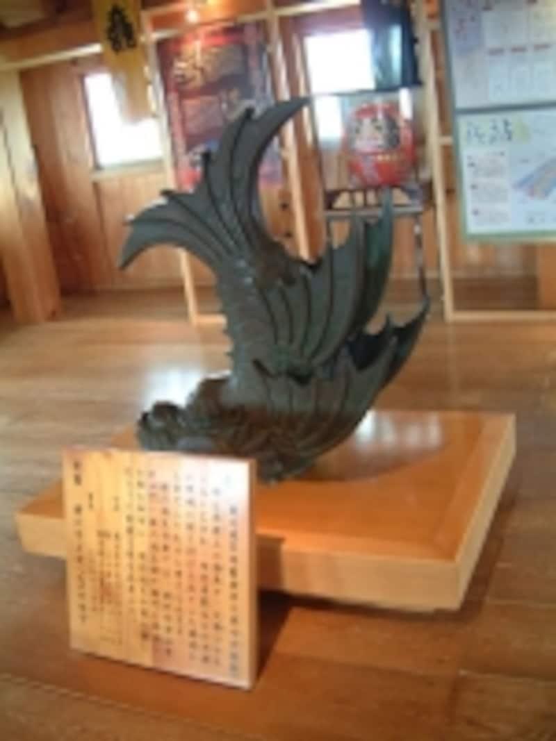 掛川城天守閣の内部/鯱のレプリカ