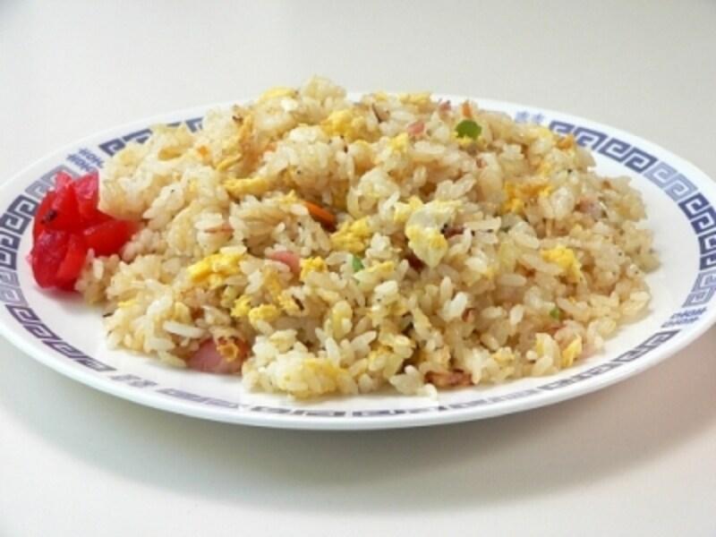 シラス&ベーコン入りチャーハン