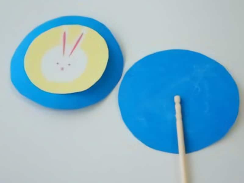 画用紙と爪楊枝でお月見製作・工作!夜空と月うさぎのピック
