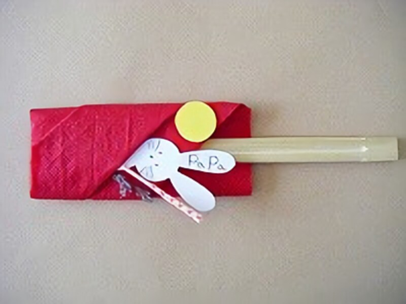 布製ナプキンでお月見製作・工作!洋風ディナーにも対応できる箸袋