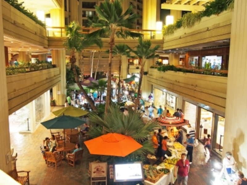 ハイアットリージェンシー1階で開催しているワイキキ・ファーマーズ・マーケット