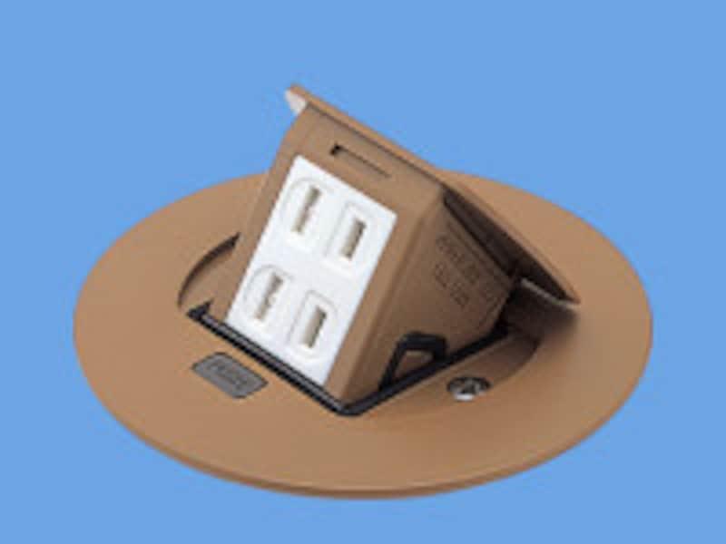 ダイニングテーブルで卓上調理器などを利用したい場合などに便利な床面に設置するタイプ。[F型アップコン] パナソニックエコソリューションズ