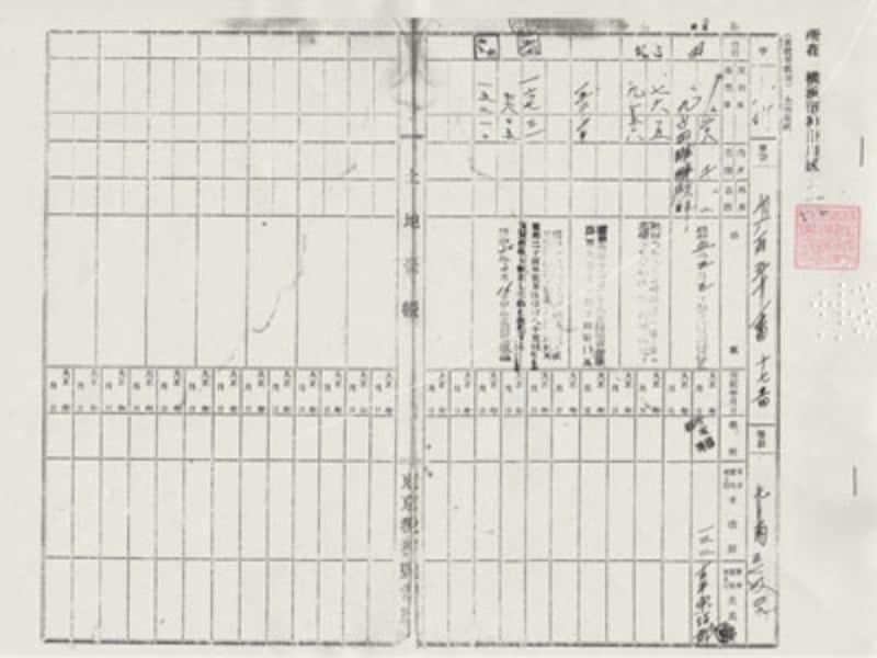 旧土地台帳の写し