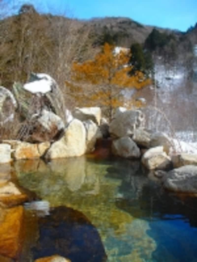 葛温泉仙人閣の露天風呂